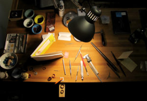 A very moody shot of my carving bench.