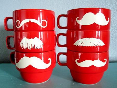 stacking mustache mugs