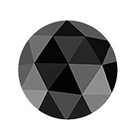 1 carat black rose-cut diamond