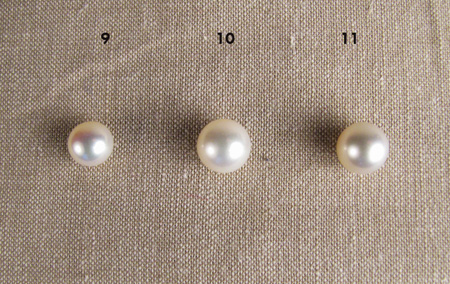 Chinese freshwater pearls and South Sea pearl