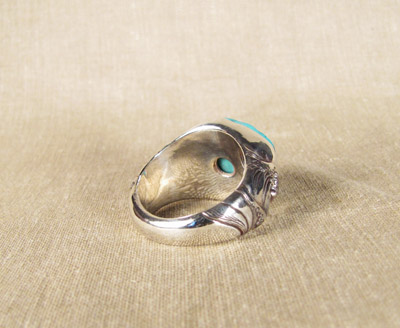 'The Wave' turquoise man's ring