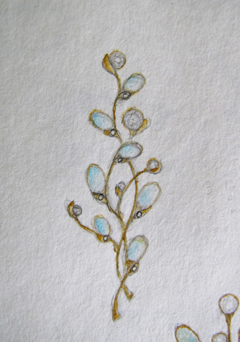 rendering of opal and diamond brooch