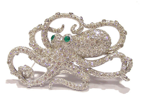 pave diamond octopus