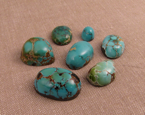 Turquoise from Nevada and New Mexico