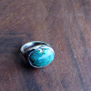turquoise and palladium ring