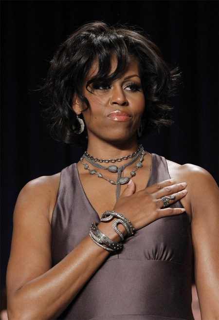 Michelle Obama's jewelry ensemble for the 2011 Correspondent's Dinner