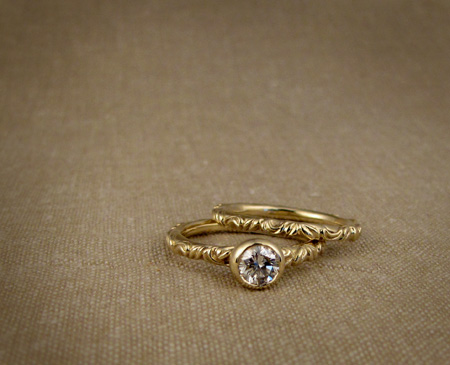 Victorian Solitaire with diamond