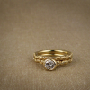 victorian solitaire with brilliant diamond and matching band