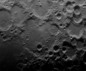 Deslandres crater by Torben Bjorn Hansen