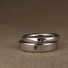 modern wedding bands with sapphires