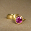 22K pink sapphire solitaire