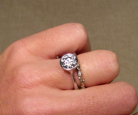 1.75ct palladium solitaire