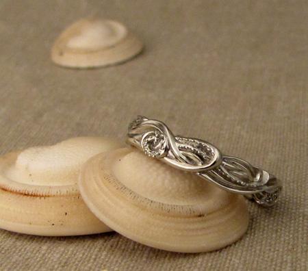 Squid Ring - 14K white gold