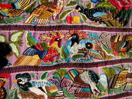 guatemalan bird huipil