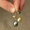 ooak pearl drop earrings