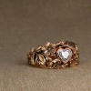 wild rose heart solitaire