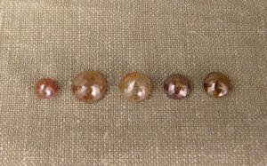 Round rose-cut diamonds