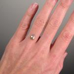 Silver rose-cut pear diamond