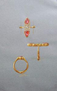 Fire opal ring design