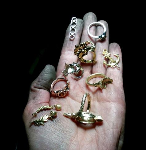 Custom-carved jewelry