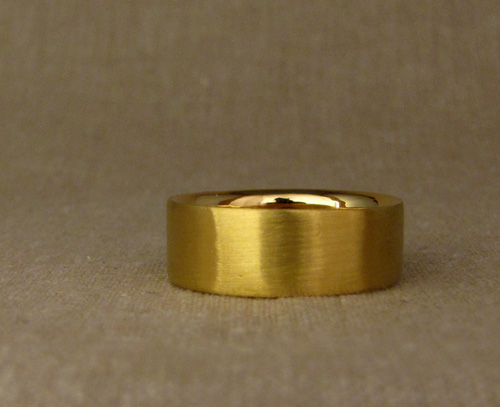 24K wide wedding band