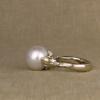 18K white rococo pearl solitaire