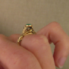 rococo emerald ring