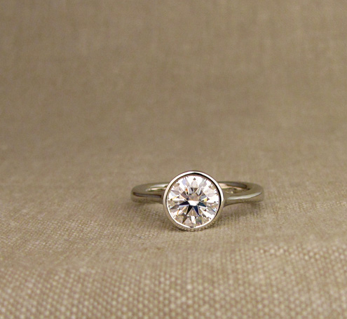 7mm Low-profile bezel solitaire