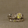 poppy solitaire with intense yellow diamond