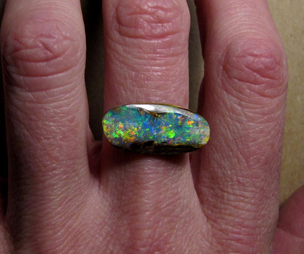 Australian boulder opal, fossilized wood opal