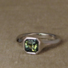 geometric solitaire with parti-sapphire