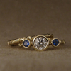 victorian solitaire with sapphires!