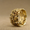 wide gold rose bramble band