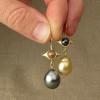 ooak pearl drop earrings