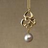 art nouveau snake pendant + pearl