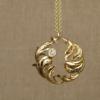 rococo leaf swirl pendant