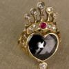crowned heart + dancing ladies
