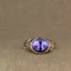 tanzanite and poppy solitaire