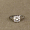 cushion geometric solitaire