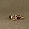 arabesque 3-stone ring