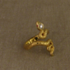 split snake ring in 22K