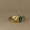 emerald + laurel motif ring