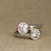 pair of wedding solitaires