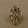 olive branch navette ring