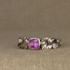 purple sapphire + morning glory solitaire